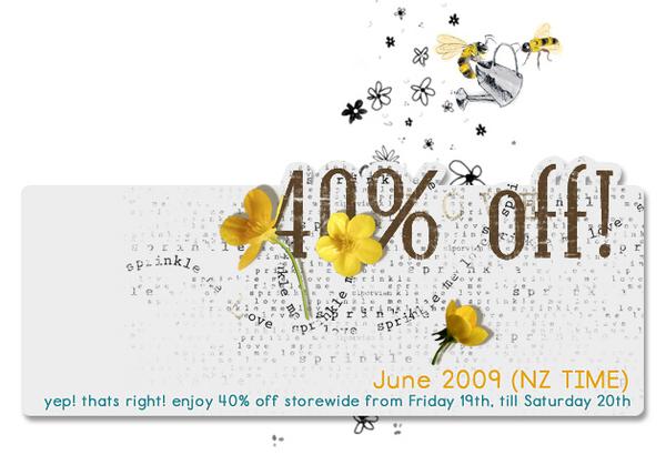 40% off sale @ pixelcanvas